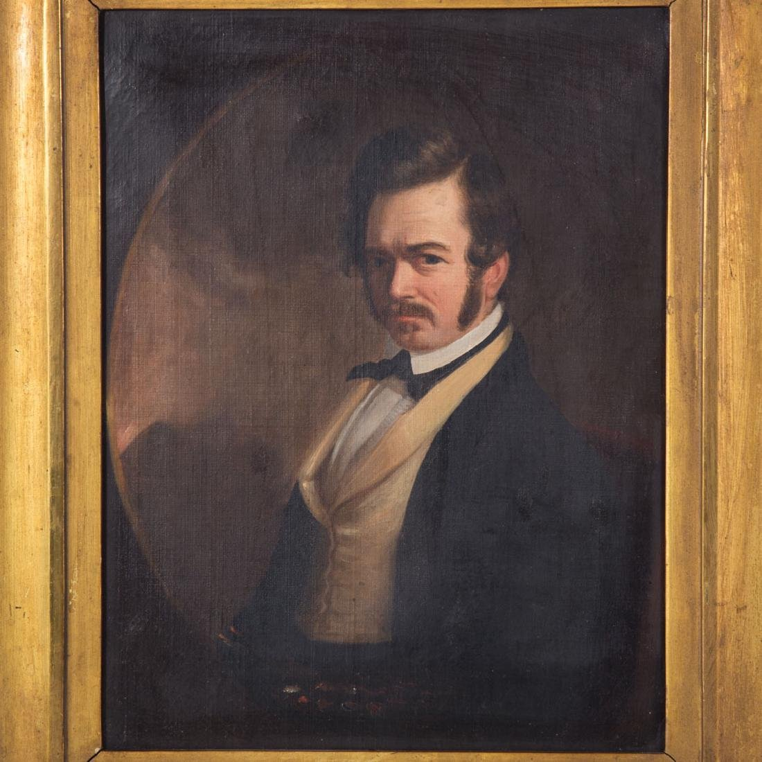 Attr. to William Hepburn. Self Portrait, oil - 2