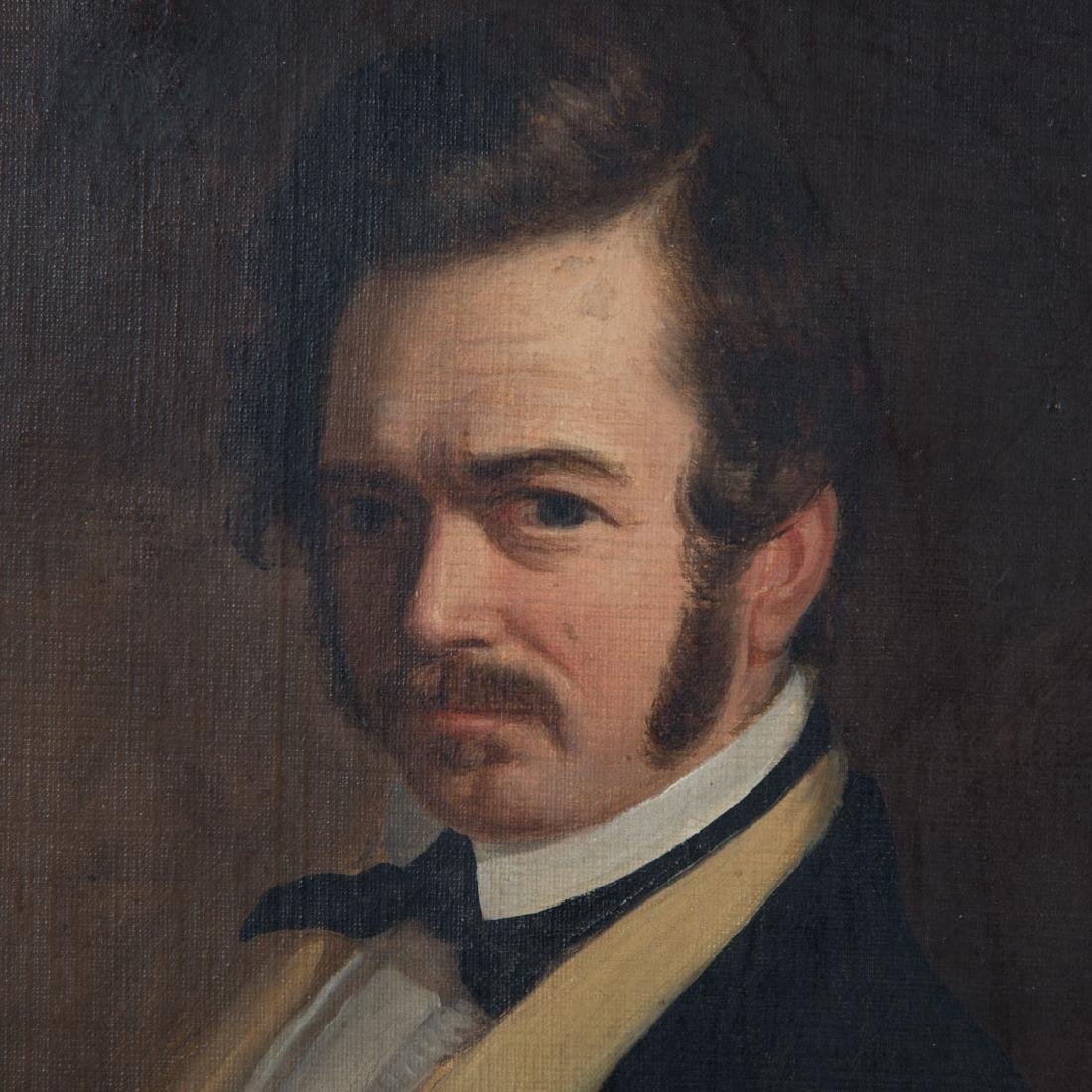 Attr. to William Hepburn. Self Portrait, oil - 3