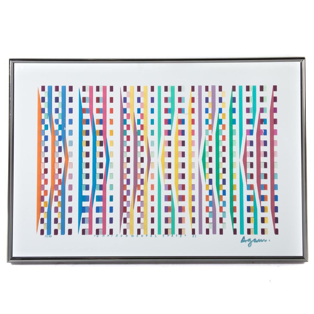 "Yaacov Agam. ""Environmental Space..."" screenprint"