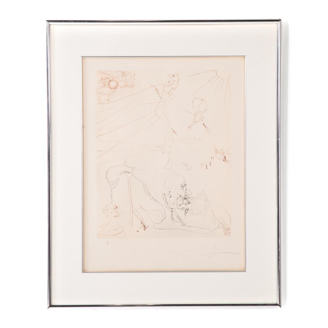 "Salvador Dali. ""L'Alchimie,"" etching"