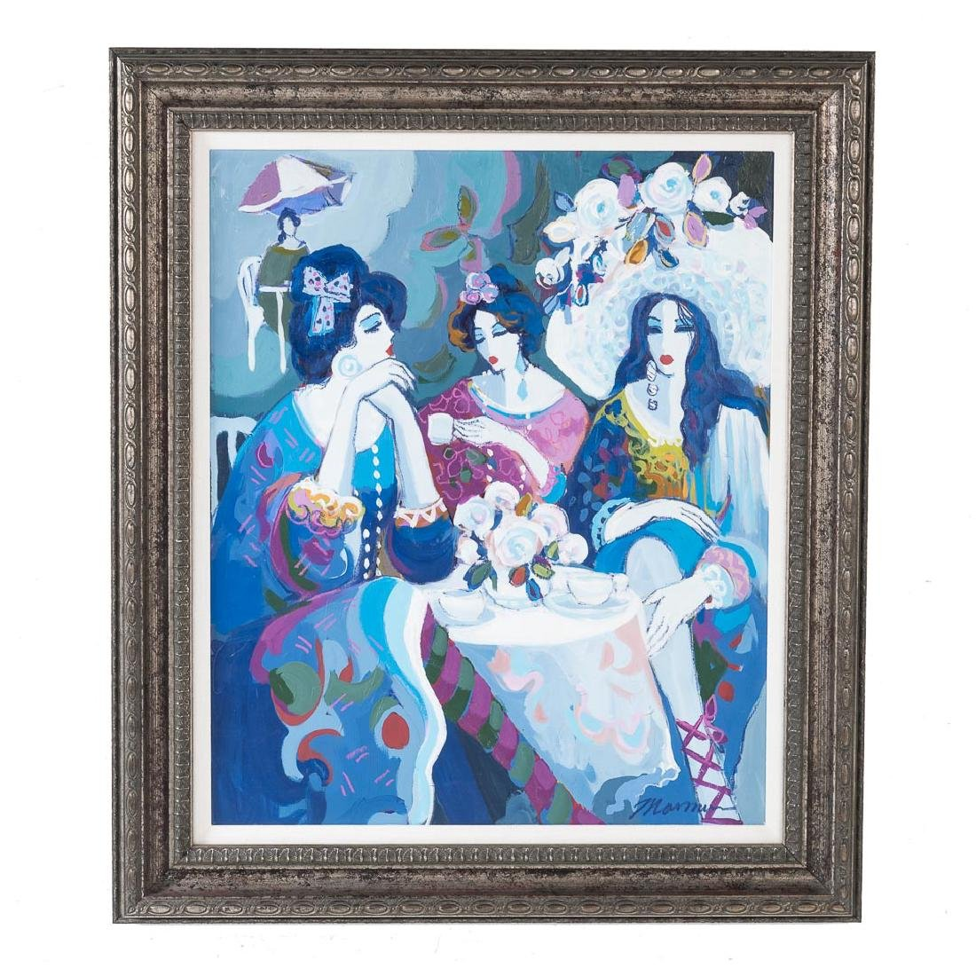 "Isaac Maimon. ""Sisters,"" oil on canvas"