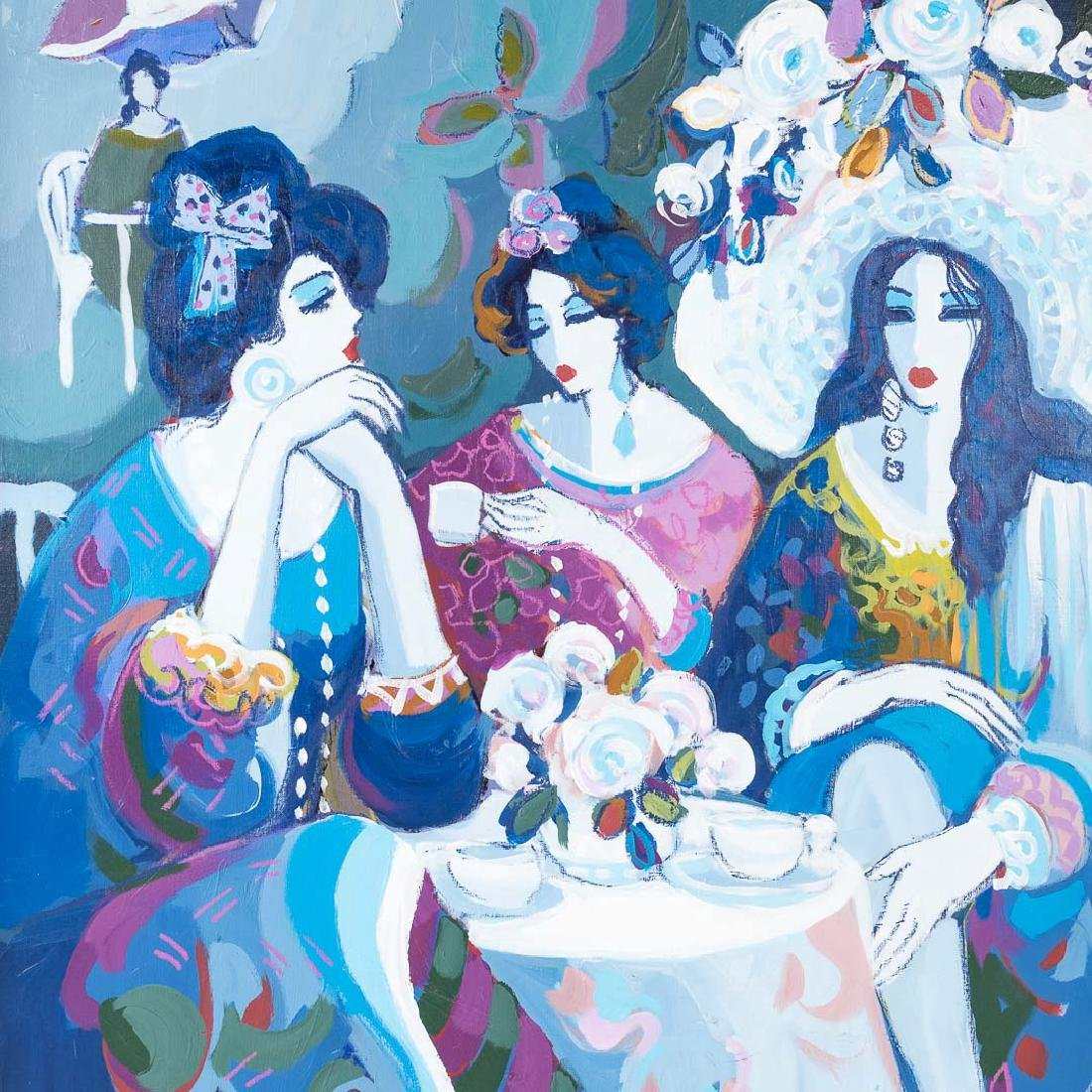 "Isaac Maimon. ""Sisters,"" oil on canvas - 3"