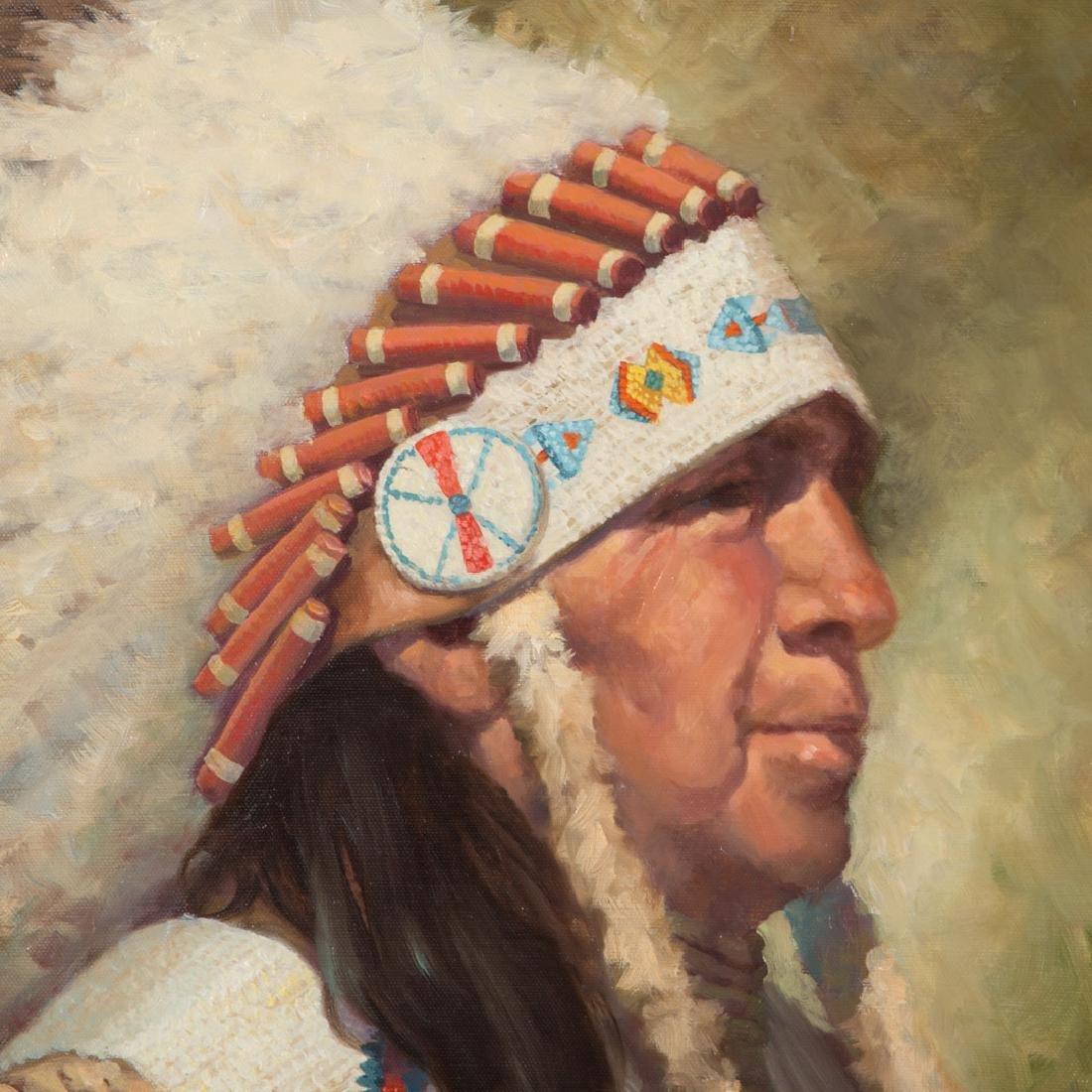 Karen Thayer. Indian Chief, oil - 2