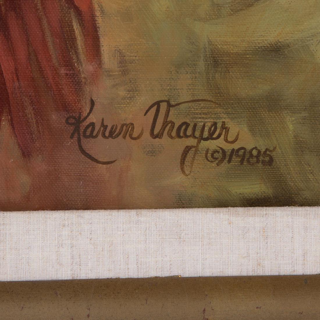Karen Thayer. Indian Chief, oil - 3