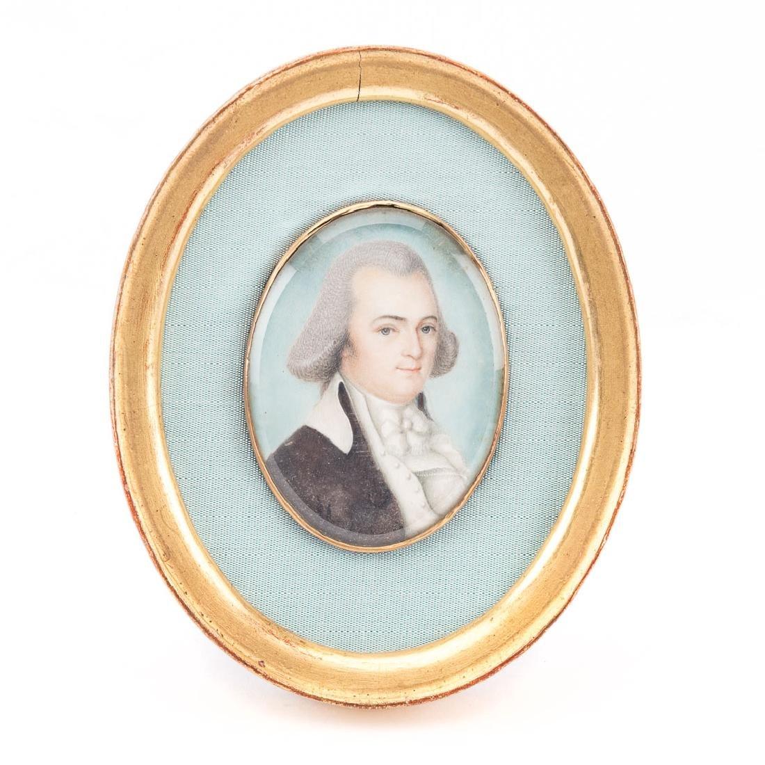 John Clapham. Portrait of F. Lancaster, miniature