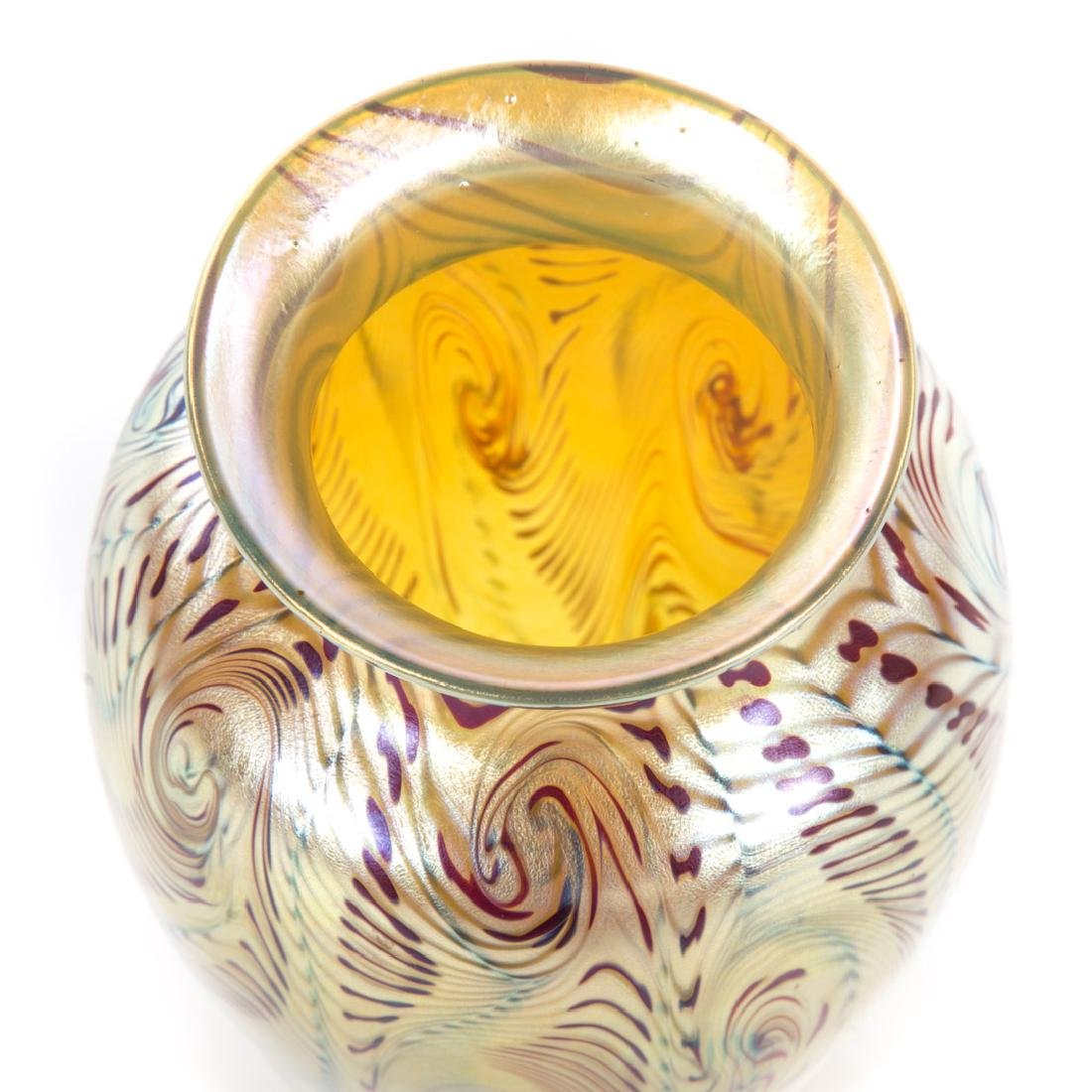 Tiffany Favrile glass vase - 2