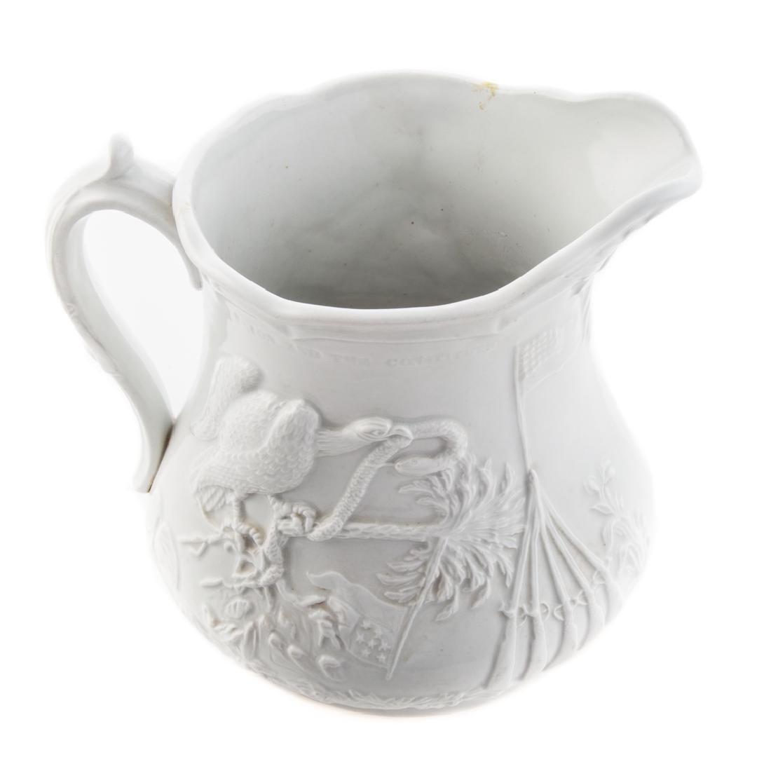 White graniteware Colonel Ellsworth pitcher - 3