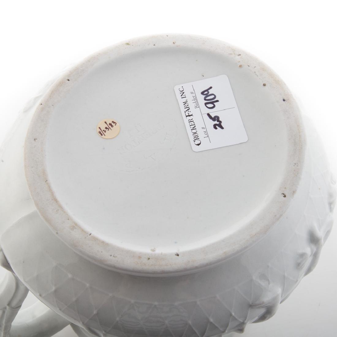 White graniteware Colonel Ellsworth pitcher - 4
