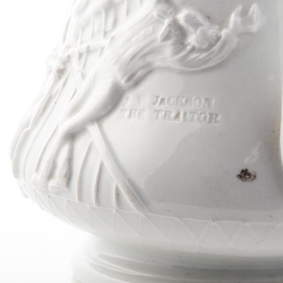 White graniteware Colonel Ellsworth pitcher - 6