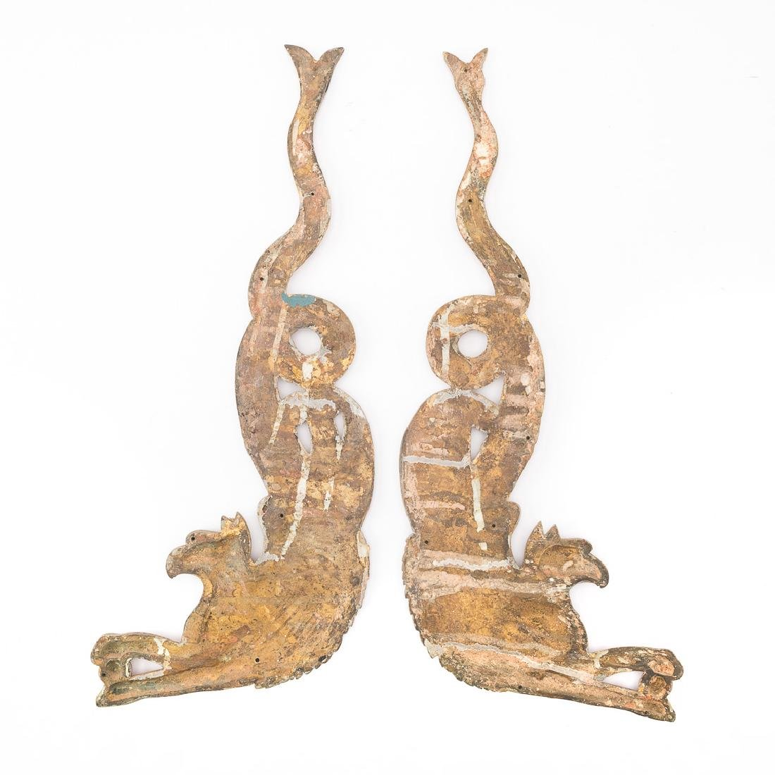 Four French Empire bronze dore mounts - 4