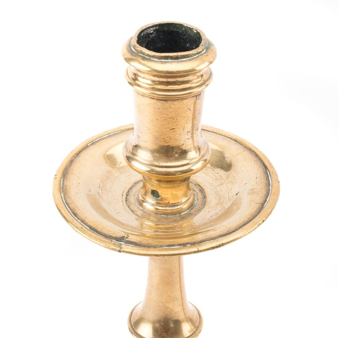 Pair of Dutch Heemskerk brass candlesticks - 2