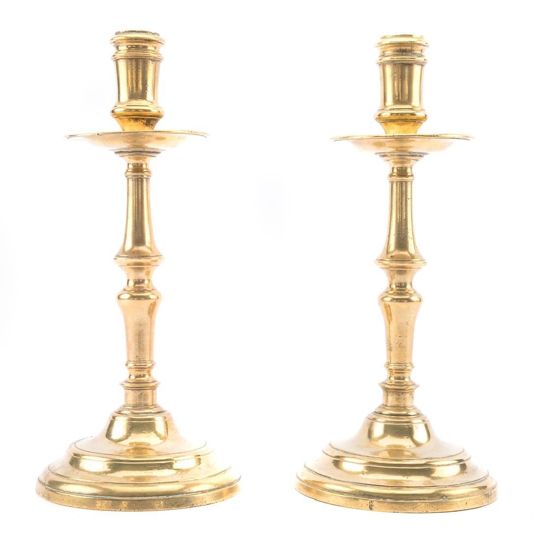 Pair of Dutch Heemskerk brass candlesticks - 3