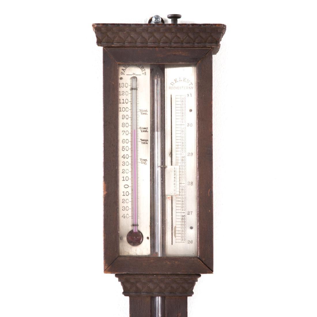 D.E. Lent walnut stick barometer - 2