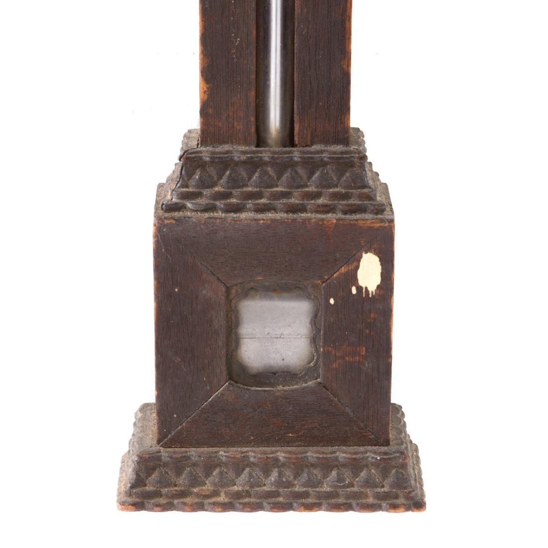 D.E. Lent walnut stick barometer - 5