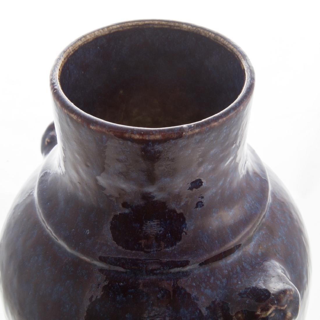 Chinese flambe porcelain vase - 3