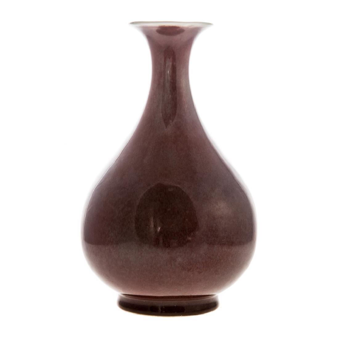 Chinese Sang de Boeuf porcelain bottle vase - 2