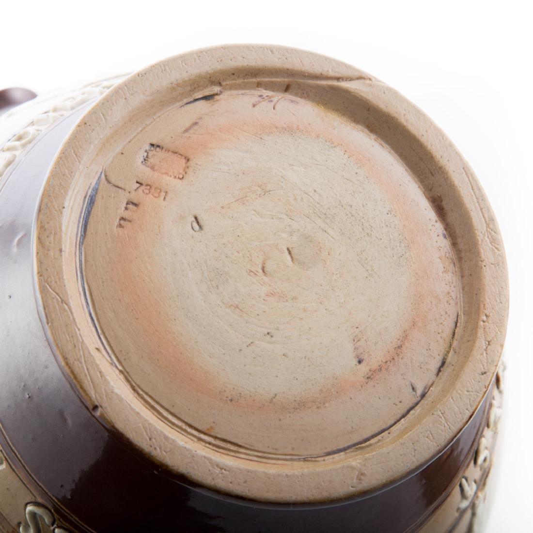 Four English salt glazed stoneware articles - 6