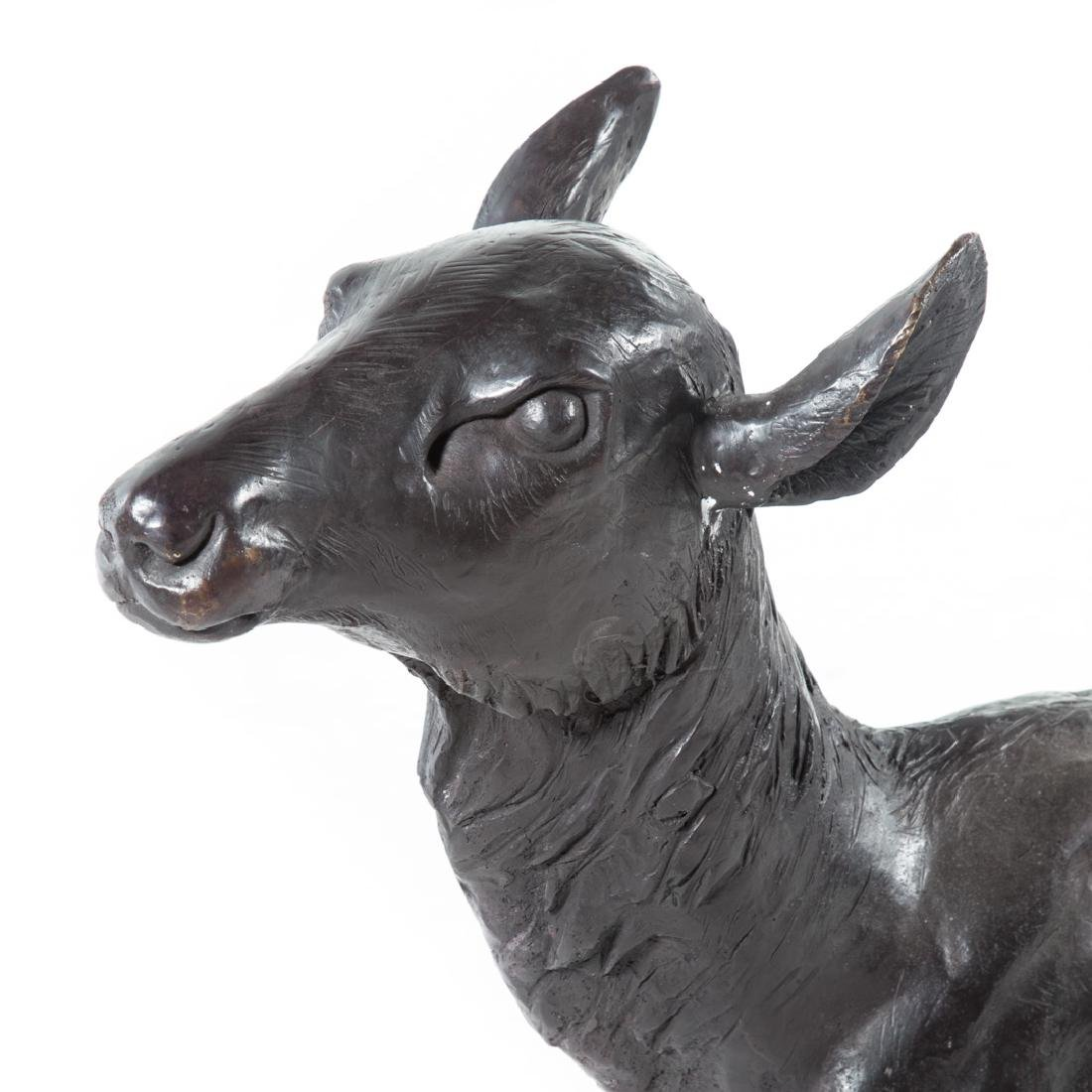 Hollow cast bronze life-size fawn - 3