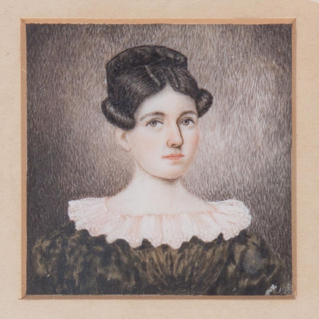 Moses B. Russell. Portrait of a Lady, gouache - 2