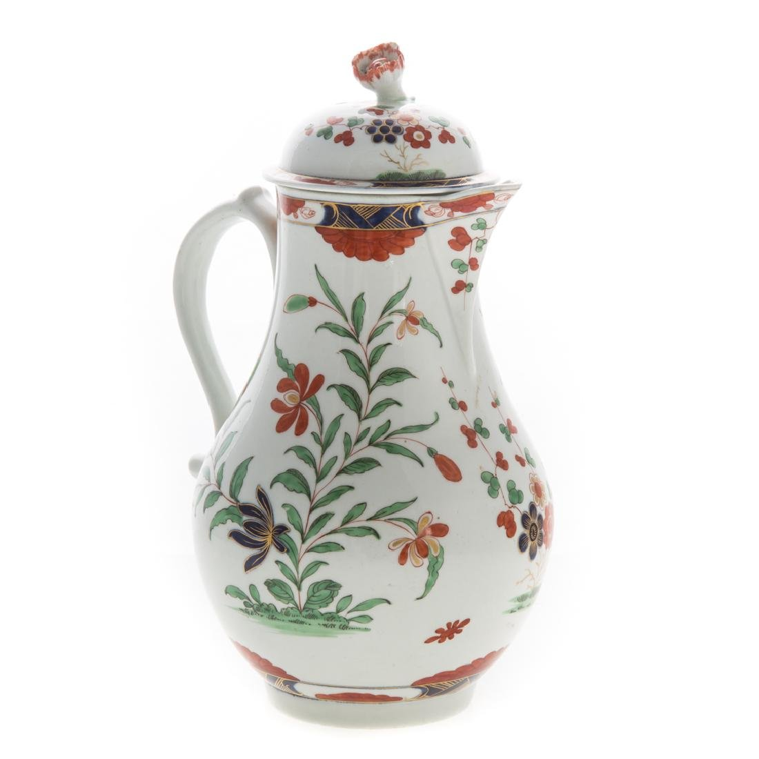 Worcester pearlware chocolate pot
