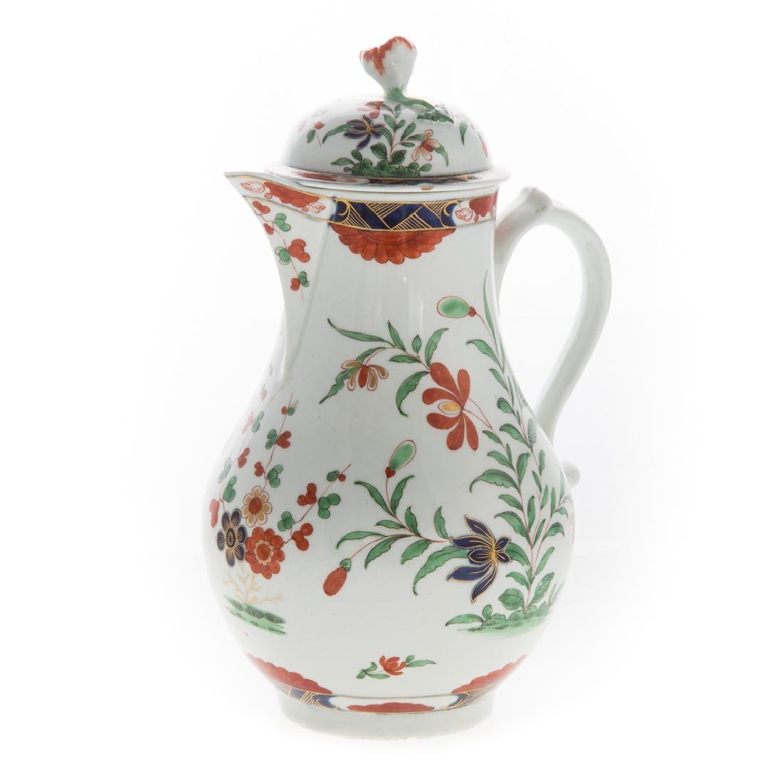 Worcester pearlware chocolate pot - 3