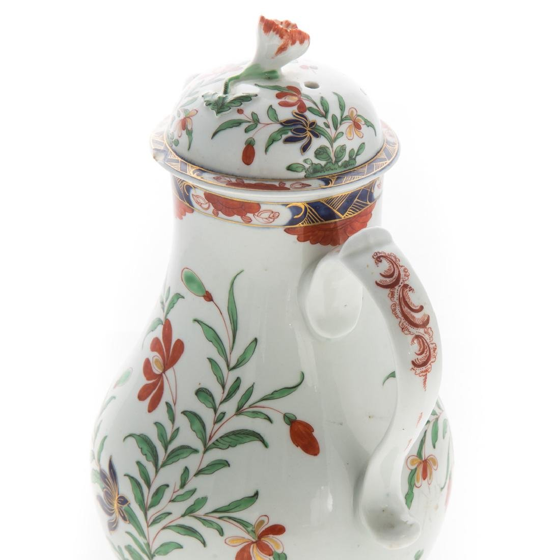 Worcester pearlware chocolate pot - 4