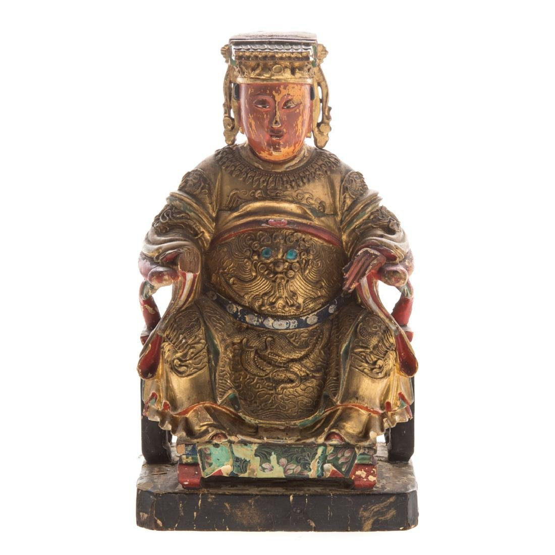 Chinese carved giltwood votive figure