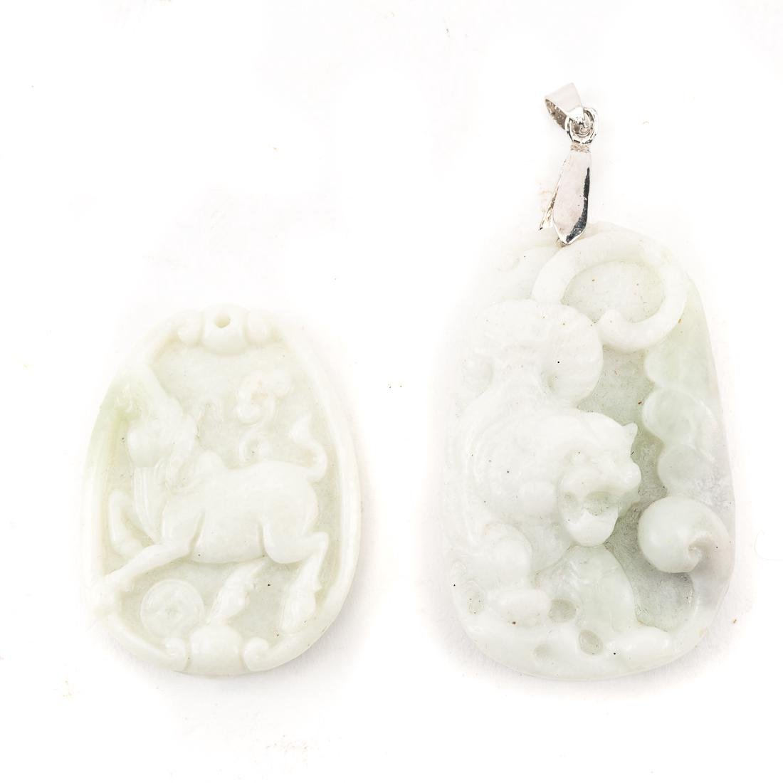 Six Chinese carved jade pendants - 2