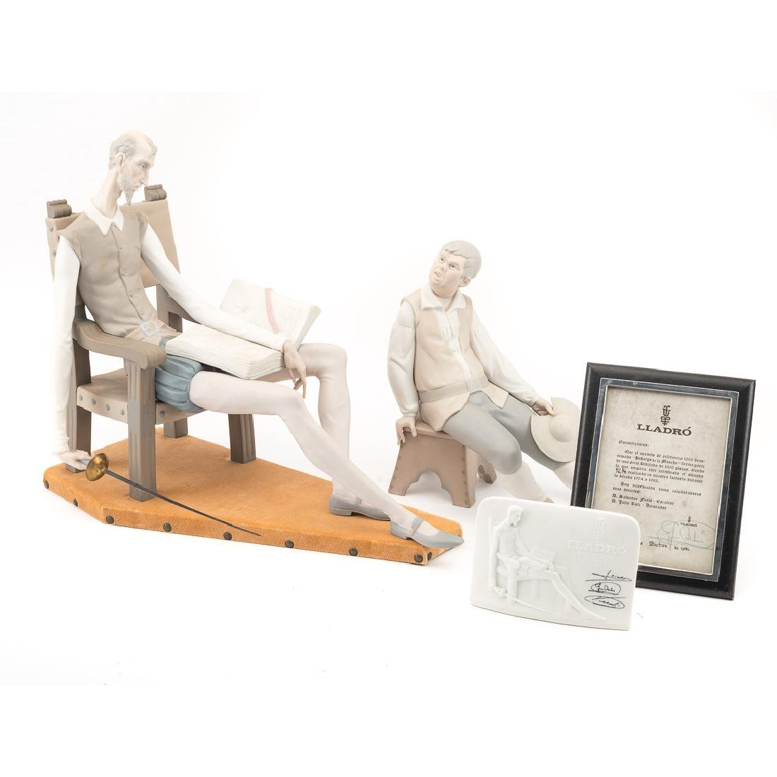 Lladro porcelain figures: Don Quixote and Sancho