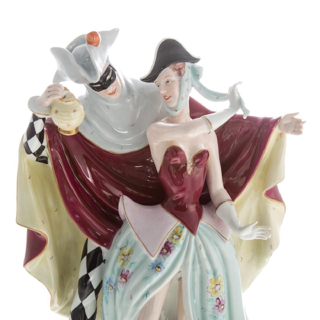 Large Royal Dux porcelain figural group - 2