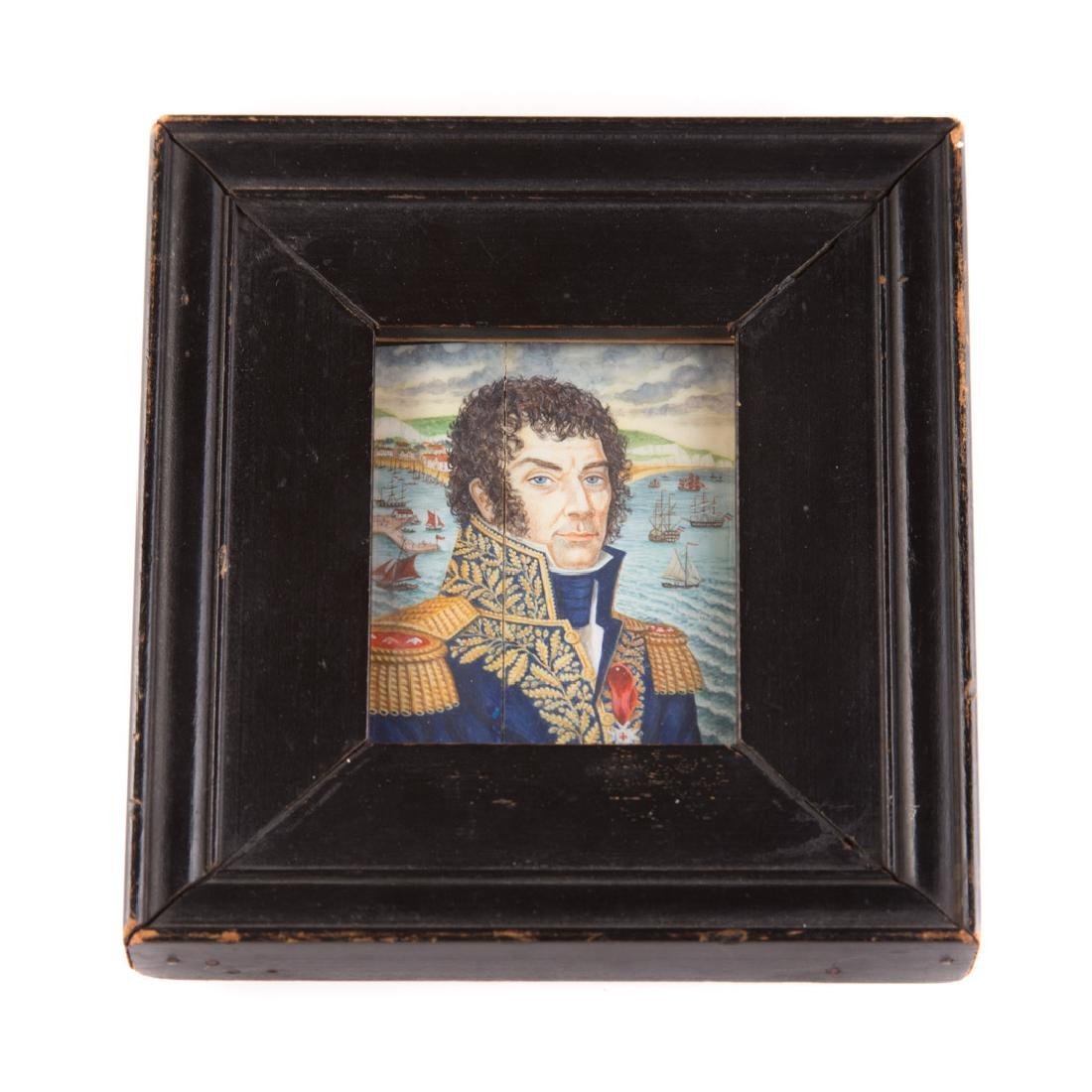 Chinese Export miniature naval officer portrait