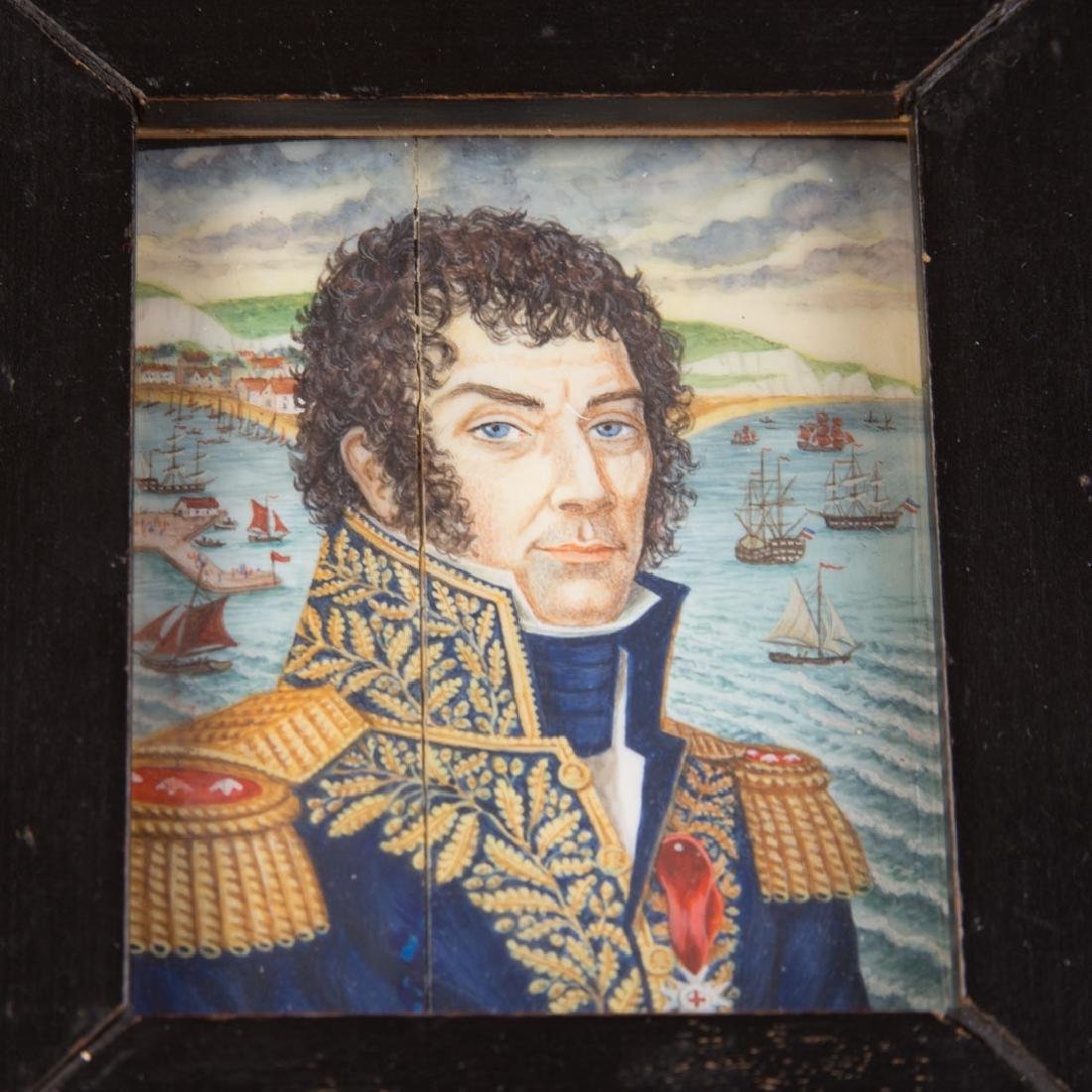 Chinese Export miniature naval officer portrait - 2