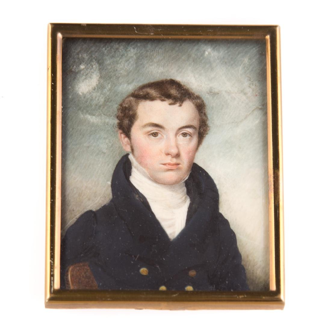 Attributed to Eliza Goodridge, miniature portrait