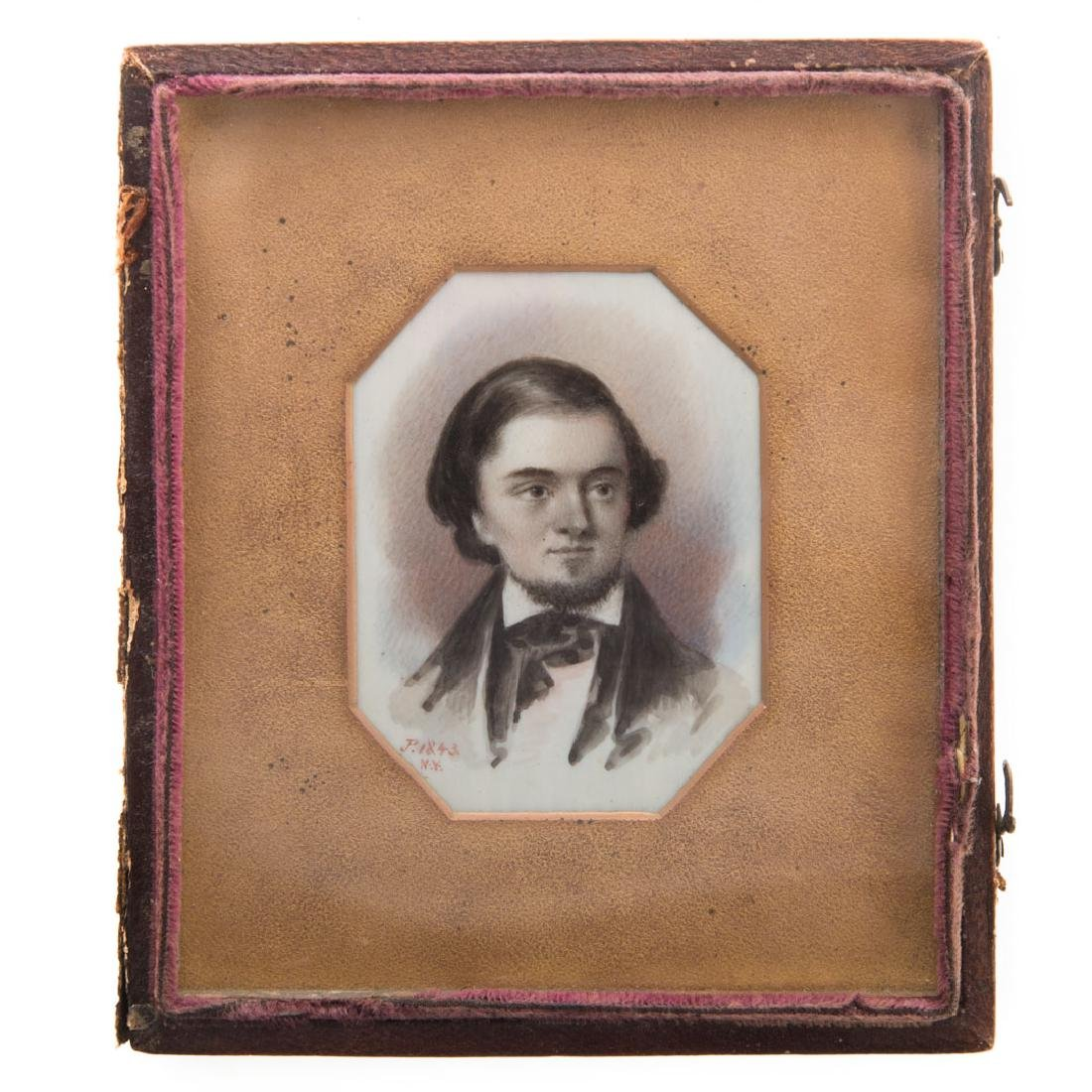 American School, 19th century miniature portrait