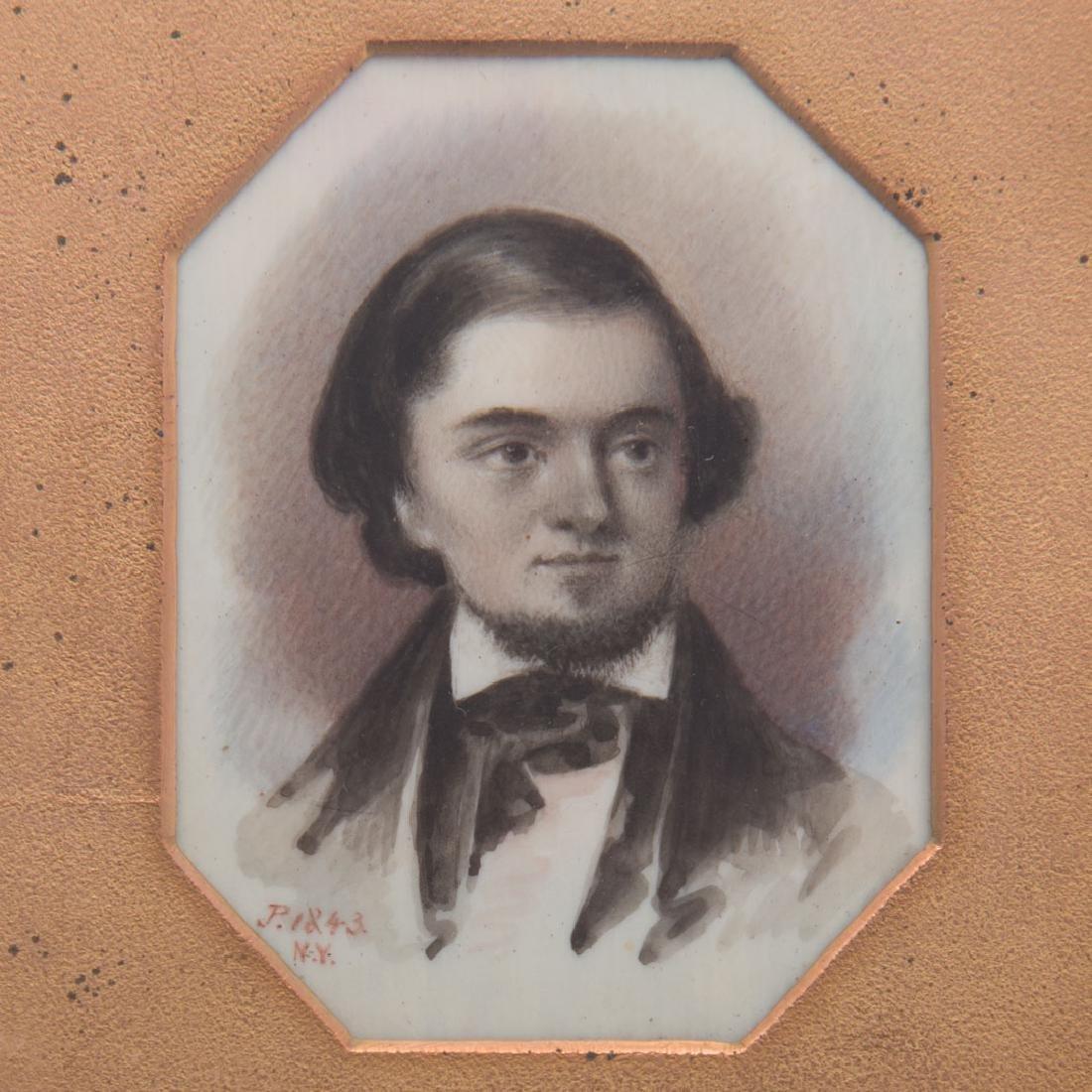 American School, 19th century miniature portrait - 2