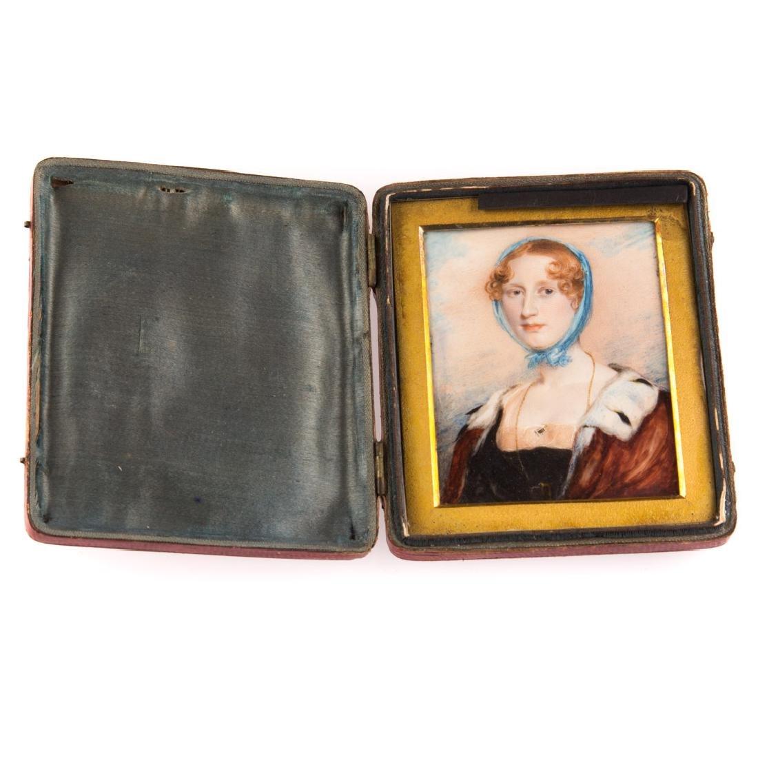 English School, 19th century miniature portrait