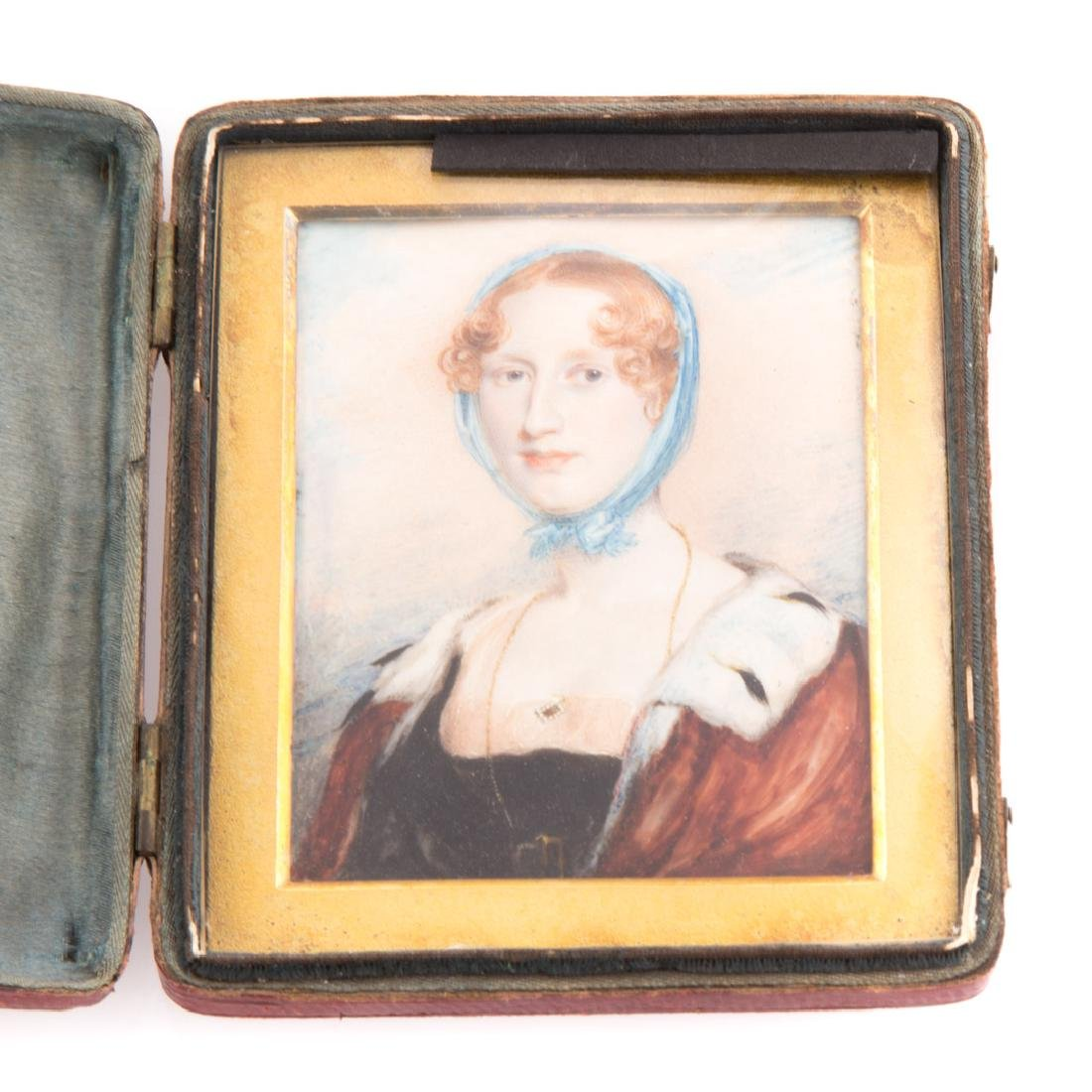 English School, 19th century miniature portrait - 2