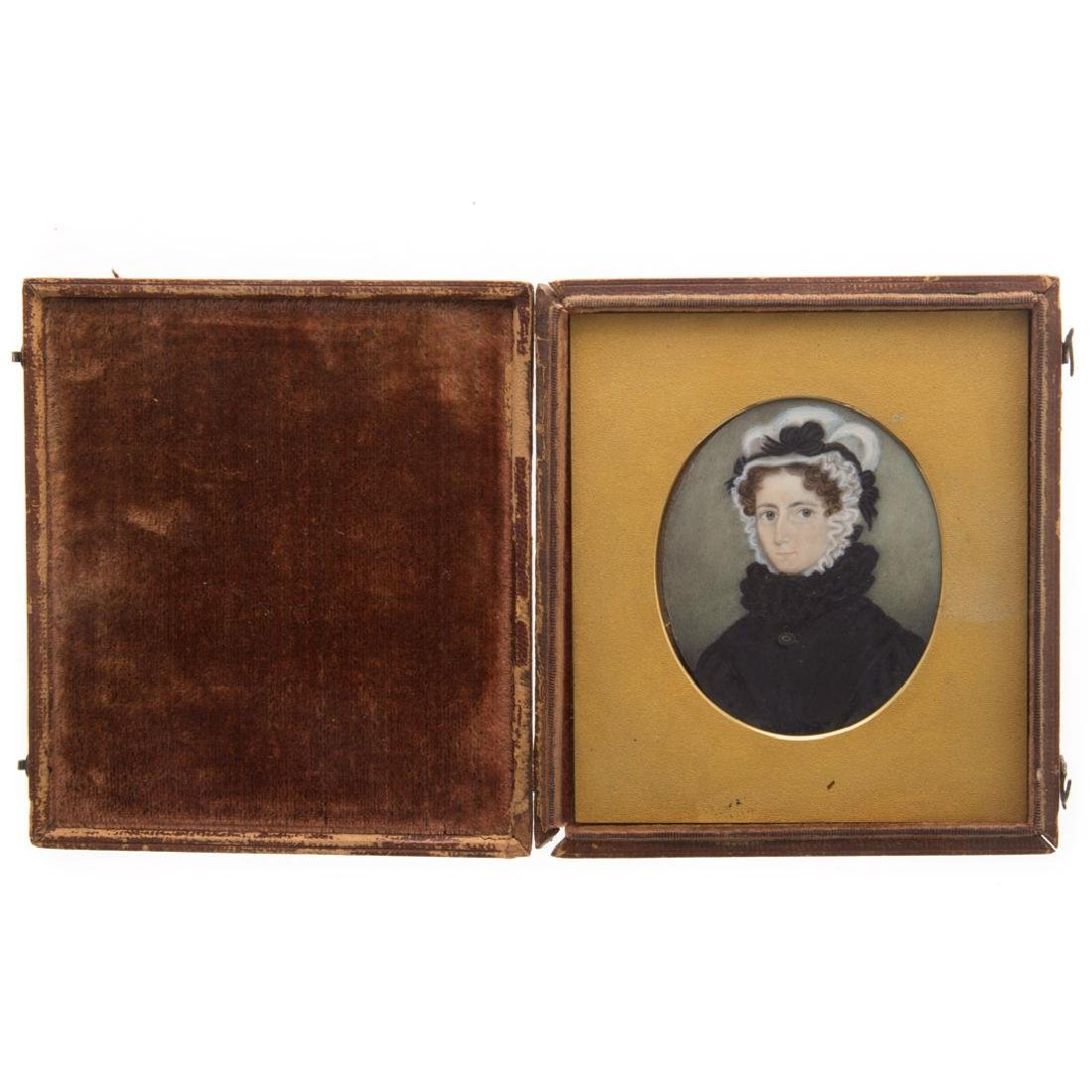 American School, 19th century miniature portrait
