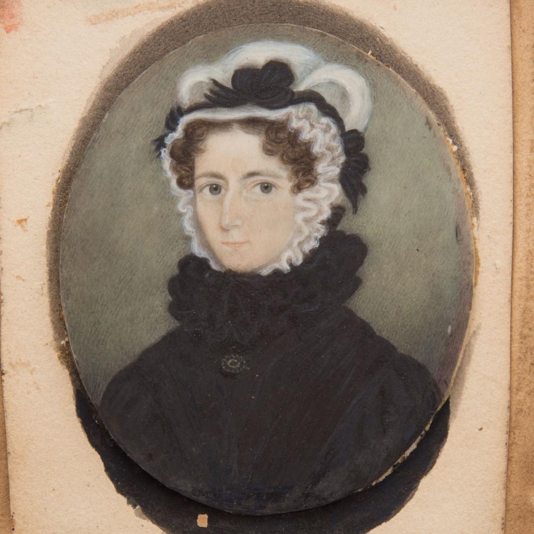 American School, 19th century miniature portrait - 3