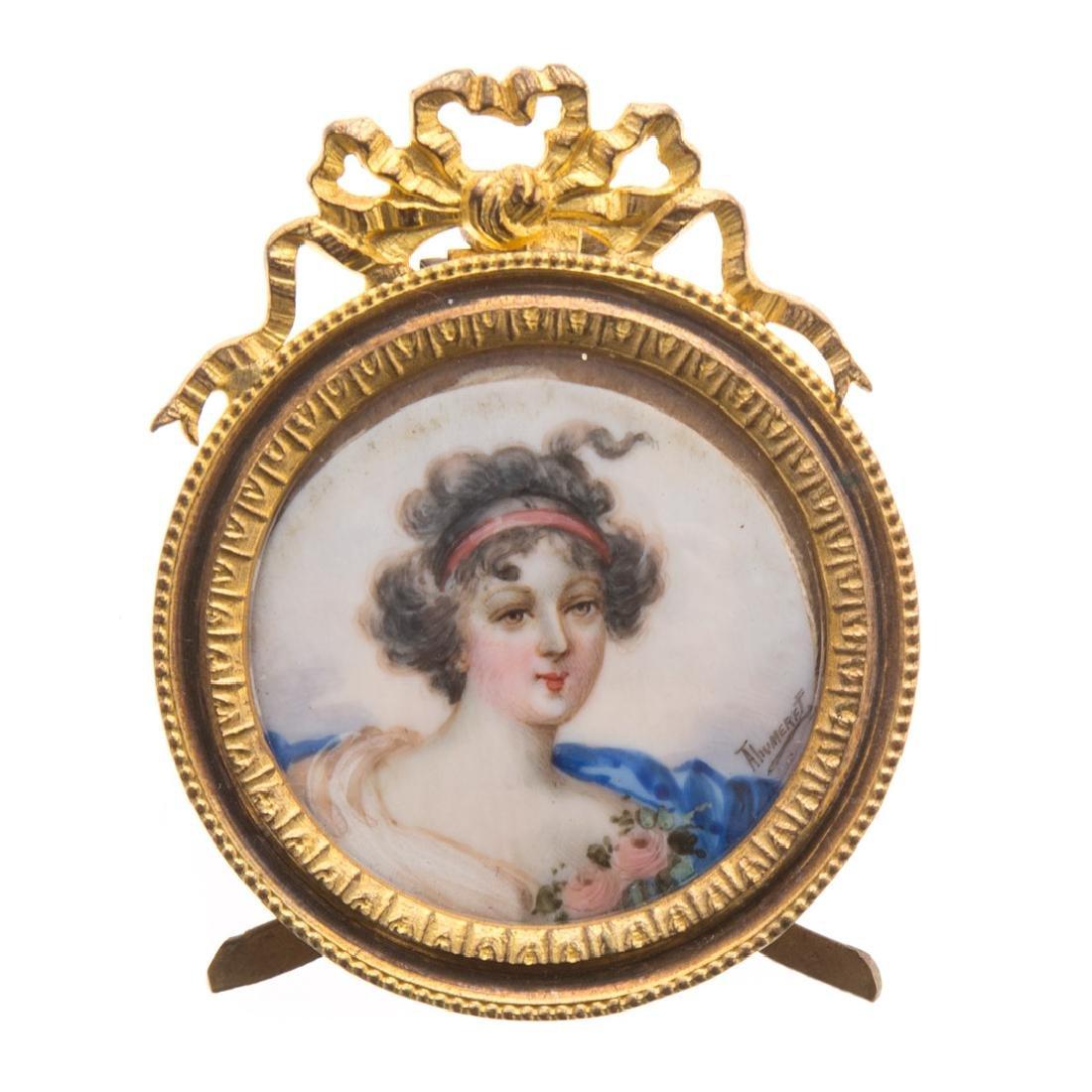 French School 19th century portrait miniature