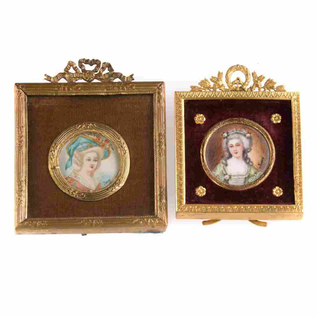 Two continental school miniature portraits