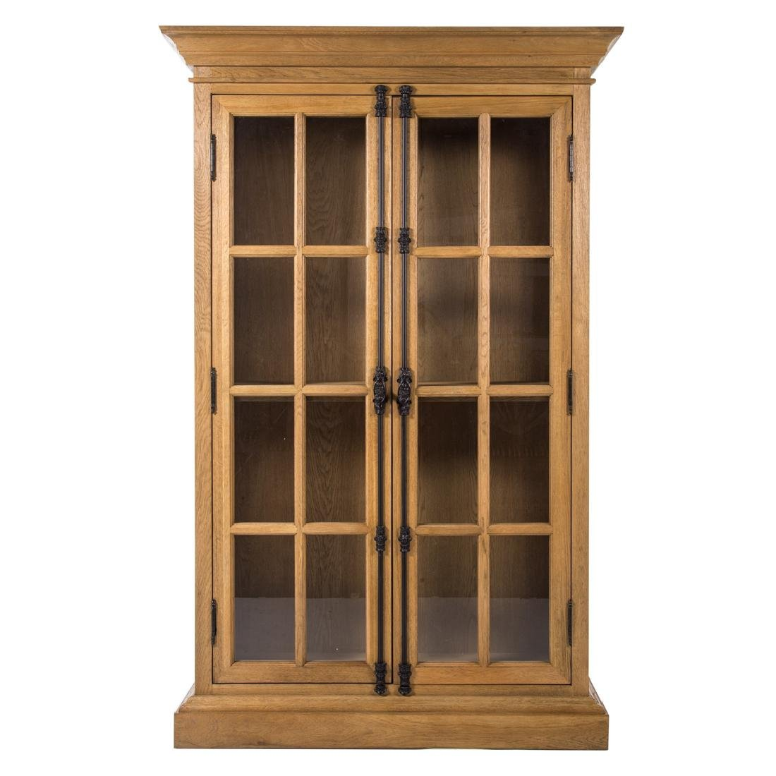 Contemporary bleached oak country style bookcase