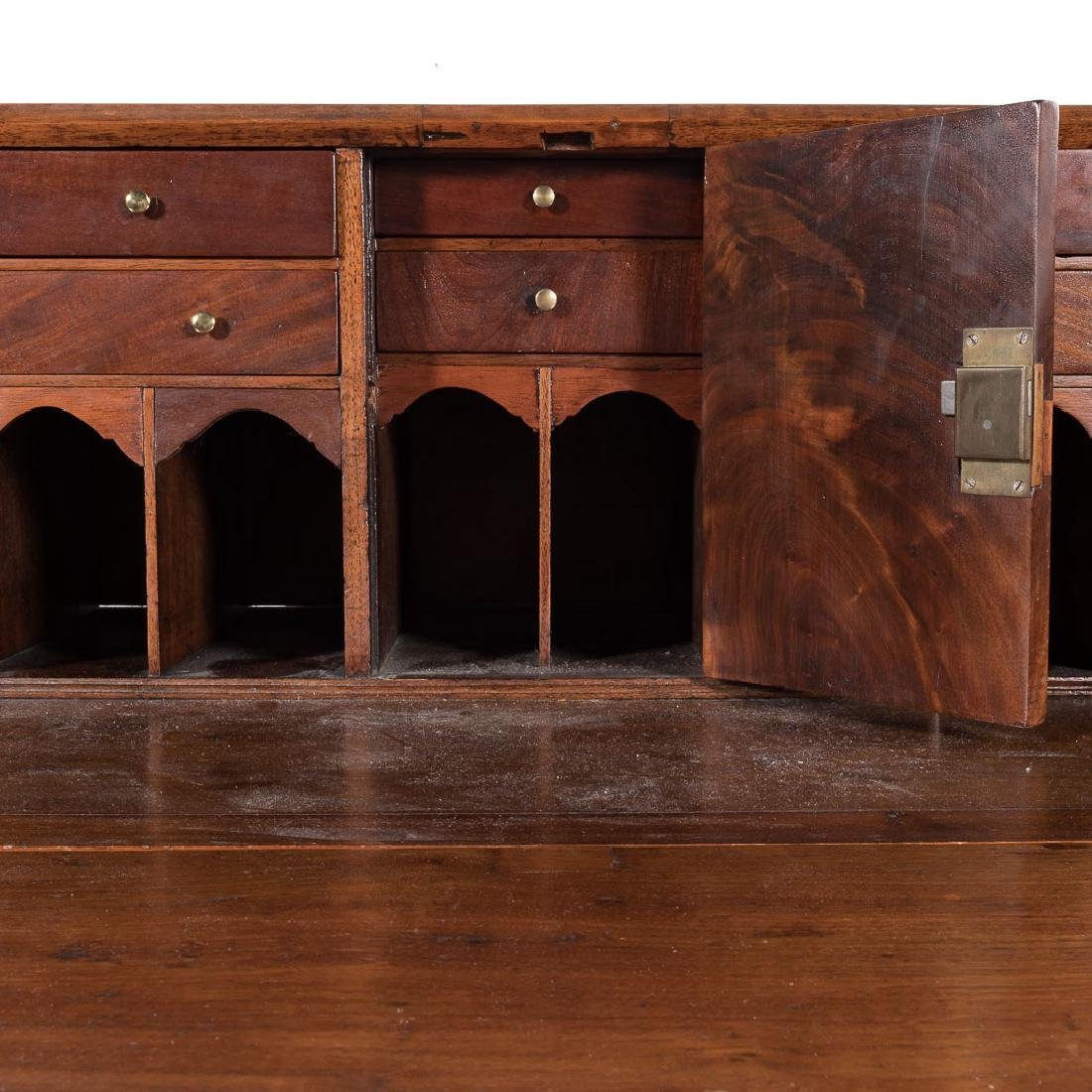 American Federal walnut slant-front desk - 5