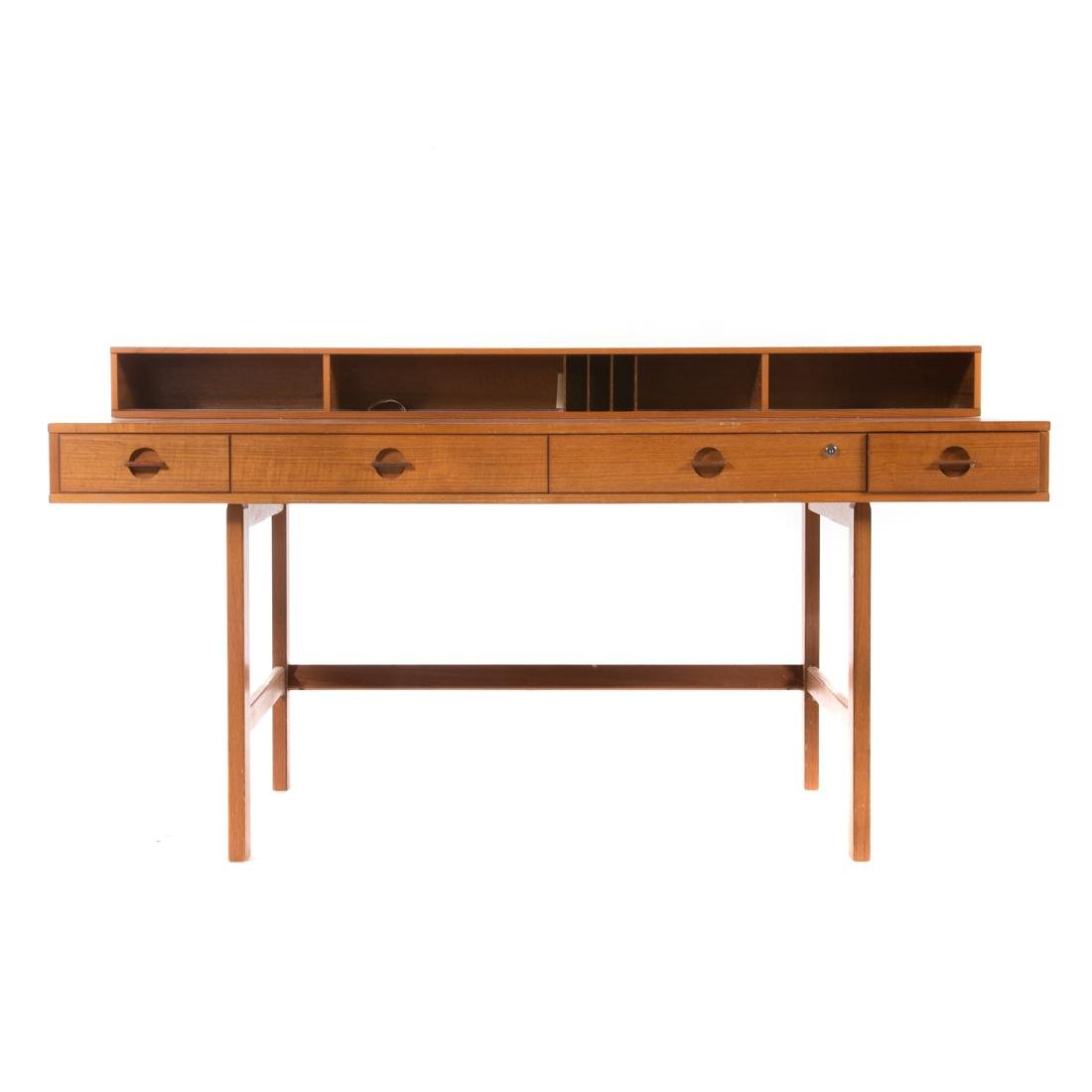 Peter Løvig Nielsen flip-top teakwood desk