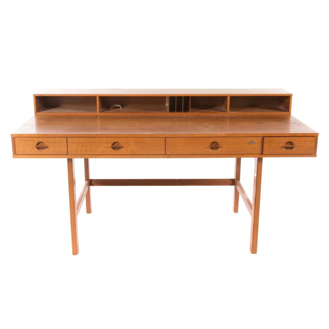 Peter Løvig Nielsen flip-top teakwood desk - 2