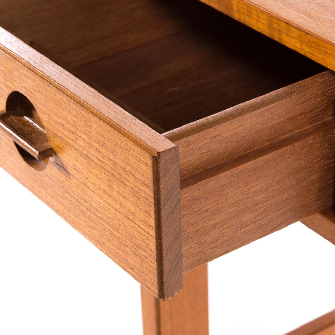 Peter Løvig Nielsen flip-top teakwood desk - 3