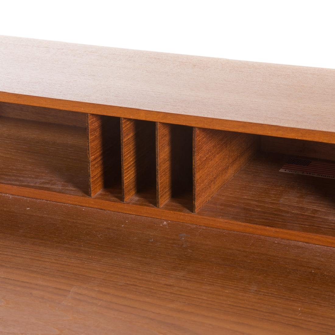 Peter Løvig Nielsen flip-top teakwood desk - 5