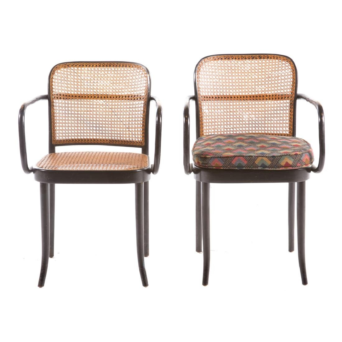 Six Stendig bentwood caned Prague armchairs - 2