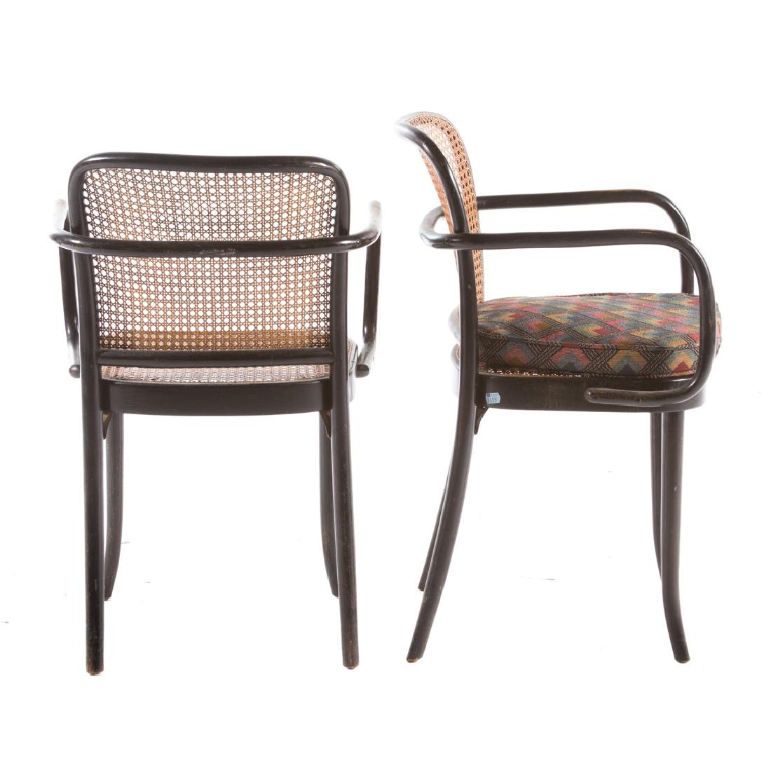 Six Stendig bentwood caned Prague armchairs - 3