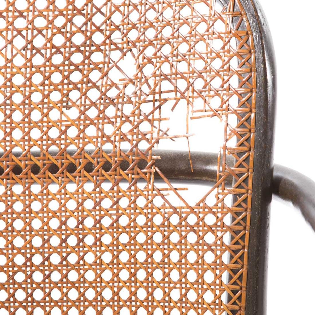 Six Stendig bentwood caned Prague armchairs - 4